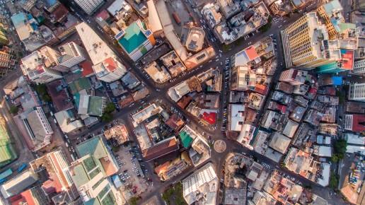 Dar es Salaam aerial city scape