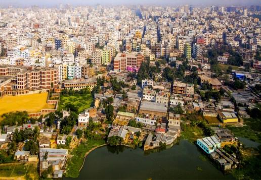 Aerial view, Dhaka, Bangladesh