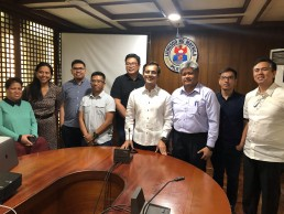SHLC Philippines research team meet Manila City Mayor and government officials.
