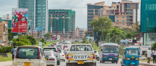 Traffic in Dar es Salaam, Tanzania.