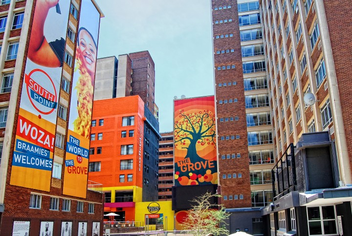Modern view of Johannesburg. Braamfontein is a central suburb of Johannesburg in South Africa. credit: Nataly Reinch / Shutterstock.com