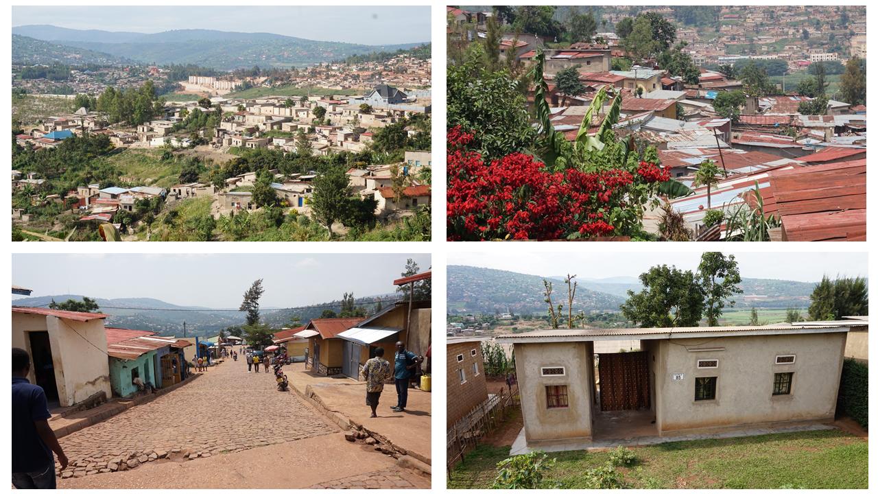Traditional, Unplanned and Informal Housing. Kigali, Rwanda. Credit: Ya Ping Wang, University of Glasgow