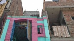 Housing in Madanpur Khadar resettlement colony, India, Delhi. Credit: Gail Wilson