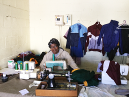 Seamstress at work in Mfuleni, Cape Town, South Africa. Credit: Ivan Turok, Human Sciences Research Council.