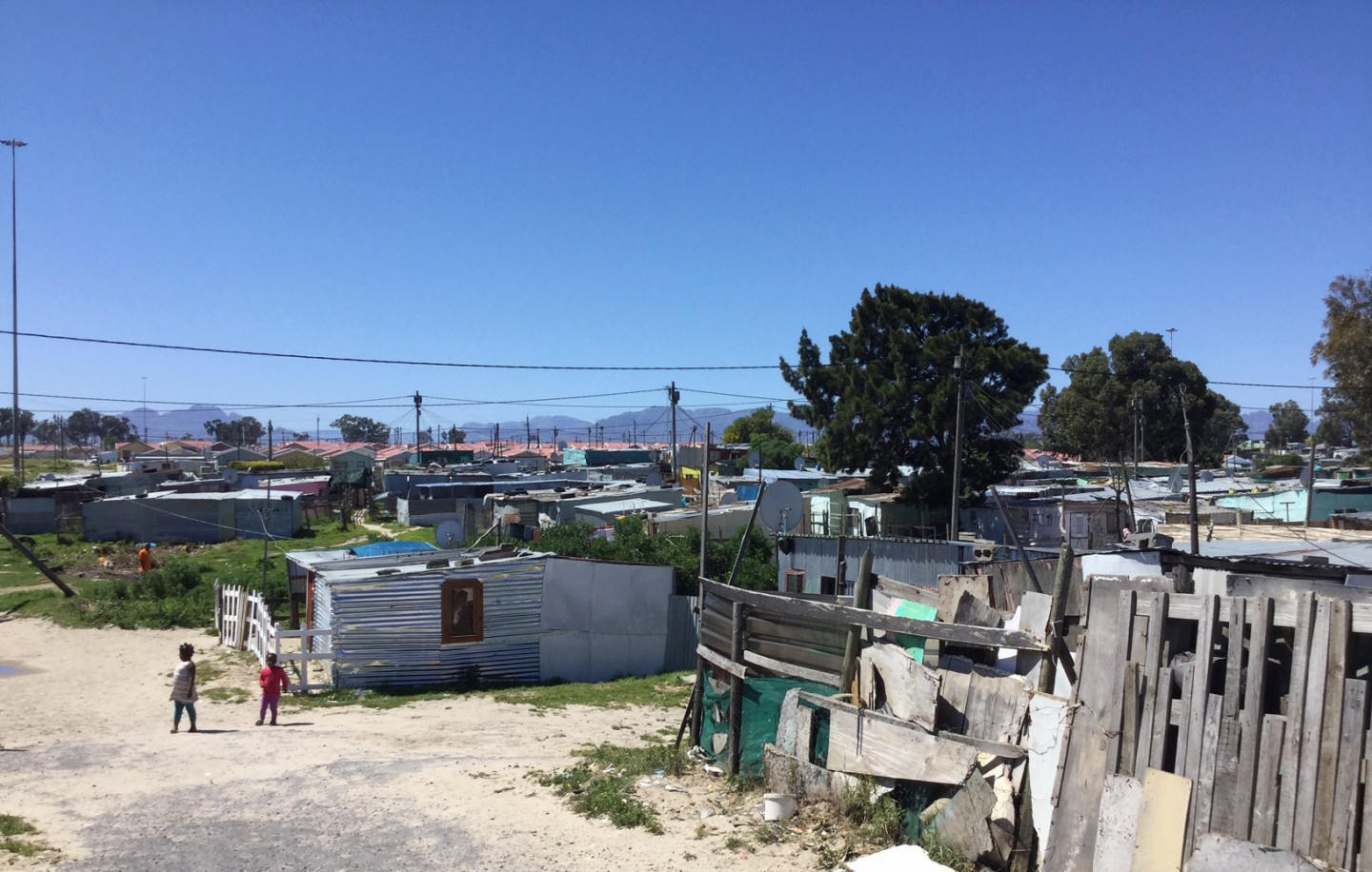 Makeshift shacks in Mfuleni, Cape Town, South Africa. Credit: Ivan Turok, Human Sciences Research Council.