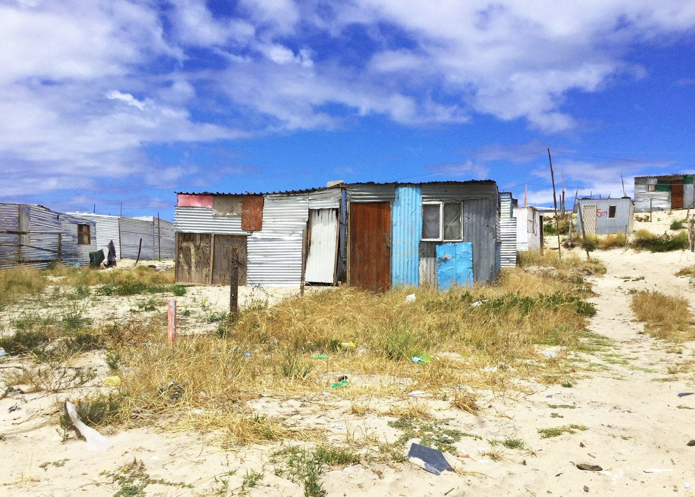 Building houses on sand in Khayelitsha, Cape Town, South Africa. Credit: Ivan Turok, Human Sciences Research Council.