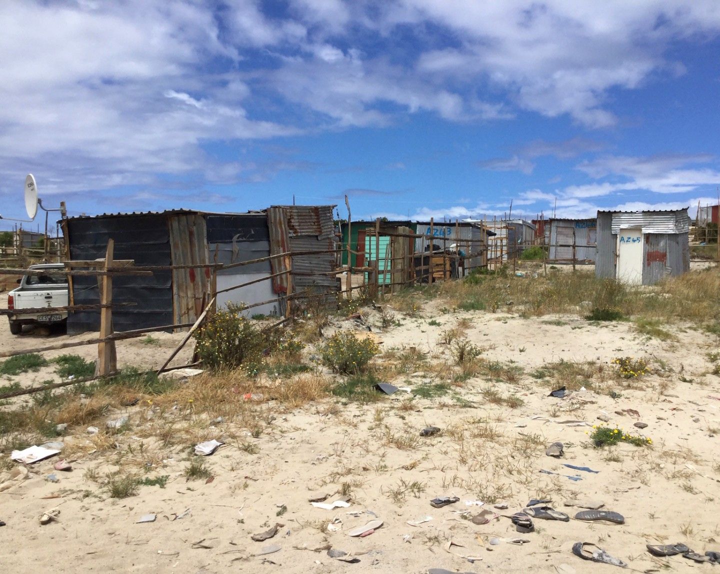 Staking out your plot in Khayelitsha, Cape Town, South Africa. Credit: Ivan Turok, Human Sciences Research Council.