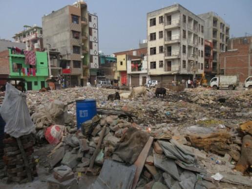 Mandanpur Khadar Resettlement Colony, Delhi, India. Credit: Cliff Hague.