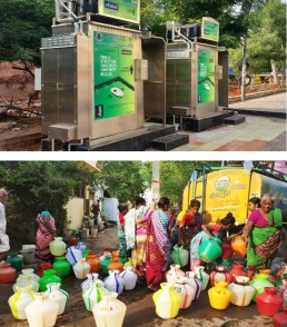 Water tankers and eToilets, a new lifeline of Indian cities, Anaiyur, Madurai, India. Credit: Arvind Pandey, NIUA