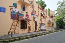 Mural in Lodhi Colony, Delhi, India. Credit: Jennifer McArthur, University of Glasgow