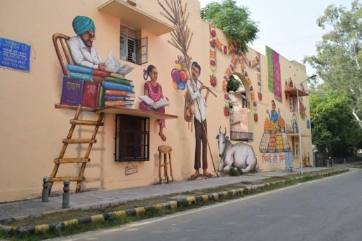 Mural in Lodhi Colony, Delhi, India. Credit: Jennifer McArthur, University of Glasgow