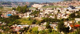 High density housing in an informal settlement, Kigali, Rwanda. Credit: Ya Ping Wang, University of Glasgow