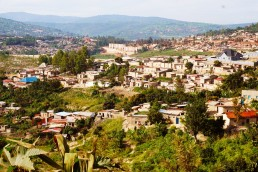 High density housing in an informal settlement, Kigali, Rwanda. Credit: Ya Ping Wang, University of Glasgow