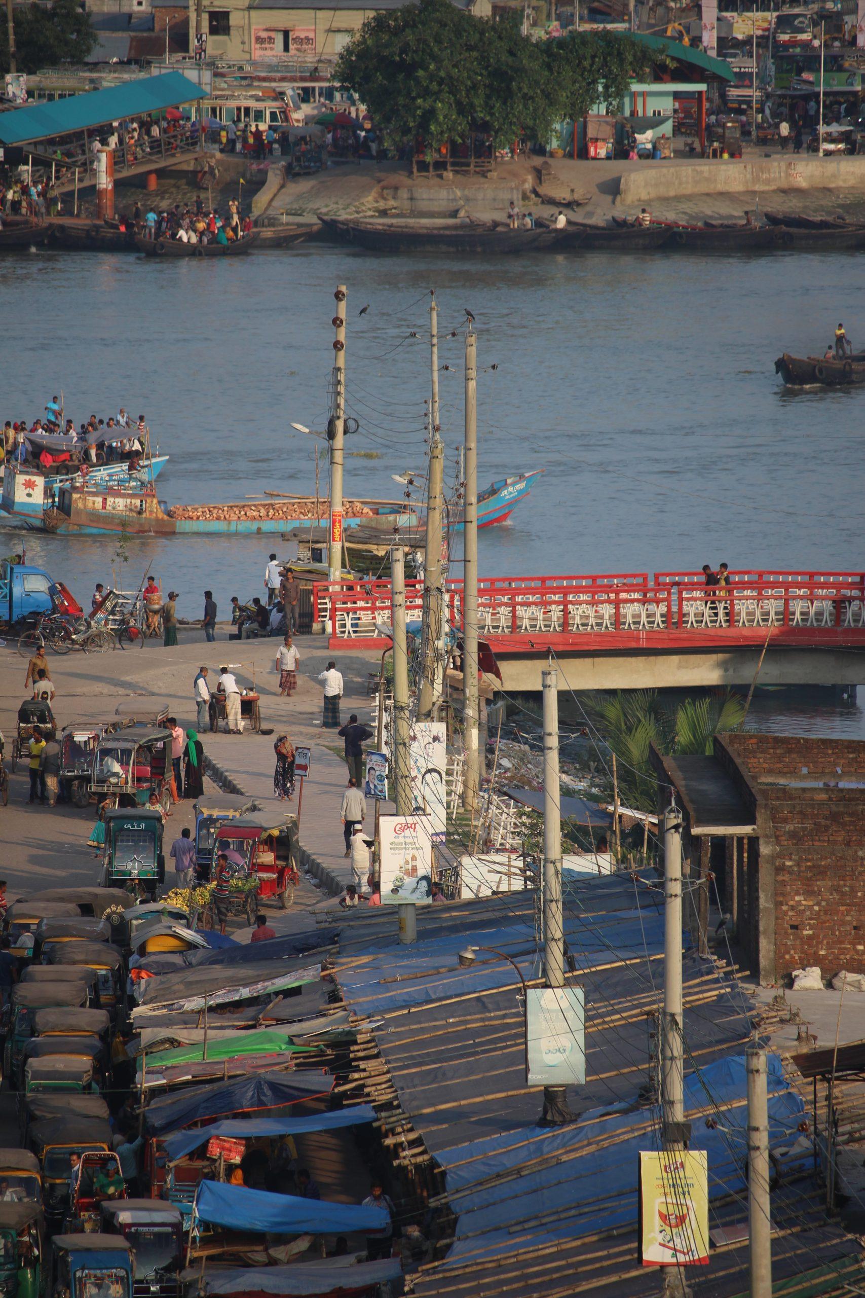 Edge of the city - Rupsa River Ghat, Khulna, Bangladesh. Credit: Irfan Shakil, Khulna University