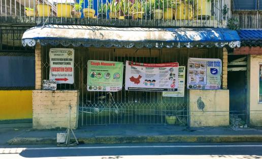COVID19 health information posters, Philippines. Credit: Ramjee Bhandari, University of Glasgow.