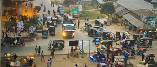 Dusk approaches at Rupsa Bridge, Khulna, Bangladesh. Credit: Irfan Shakil and Tanjil Sowgat, Khulna University