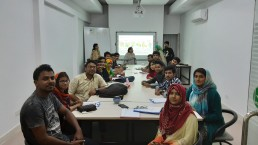Briefing session on neighbourhood sustainability at Khulna University. Credit: SHLC-BD