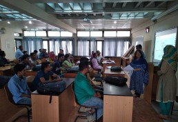 Dr. Shilpi Roy and Professor Tanjil Sowgat brief Khulna University students on neighbourhood sustainability audit. Credit: SHLC-BD