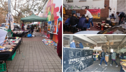 Weekend market including activities, Maboneng District, Johannesburg. Credit: Zubeida Lowton, University of Glasgow