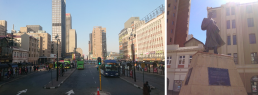 Daily commute and central meeting point, Gandhi Square, Johannesburg. Credit: Zubeida Lowton, University of Glasgow
