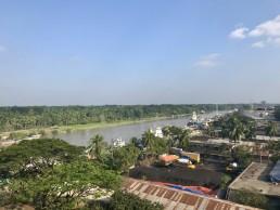 Birdseye view pf Noapara, Bangladesh. Credit: Hanna Ruszczyk, Durham University.