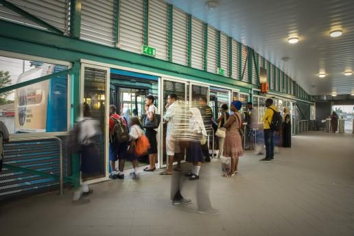 Dar es Salaam's new bus transit system. Credit: Hendri Lombard World Bank