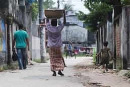 Walk safely or safe walking, Azizur Rahman Road, Khulna, Bangladesh. Credit: Nafisa Anjum.