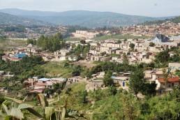 Informal housing and urban expansion in Kigali, Rwanda. Credit: Ya Ping Wang, University of Glasgow
