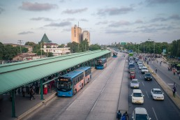 Dar es Salaam's new bus transit system. Credit: World Bank