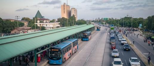 Dar es Salaam's new bus transit system. Credit: World Bank