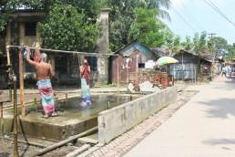 A communal bath, Crescent Jute Mill Area, Khulna, Bangladesh. Credit: Nishat Tasnim Maria and Irfan Shakil.