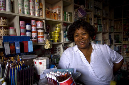 Woman works in a small shop, Ghana. Credit: Arne Hoel/The World Bank