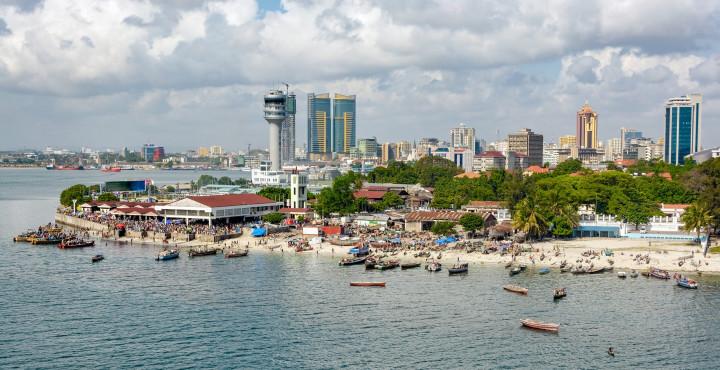 Fisherman boats in front of Kivukoni fish market, Dar Es Salaam, Tanzania. Shutterstock, Igor Grochev