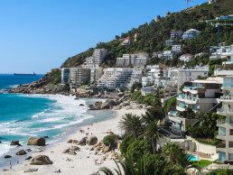 Affluent or upmarket suburb and coastal living. Cape Town, South Africa. Credit: Shutterstock, Roxane 134