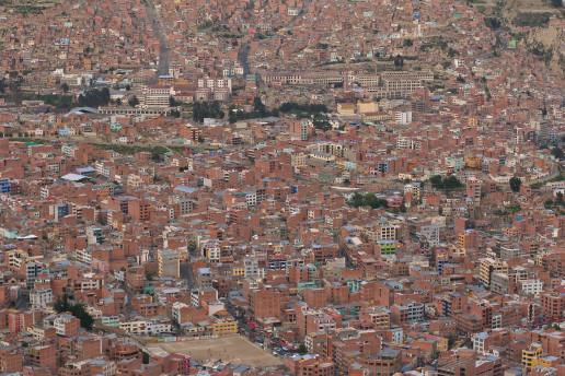 La Paz, Bolivia, from El Alto. Credit: Flickr, Danielle Pereira