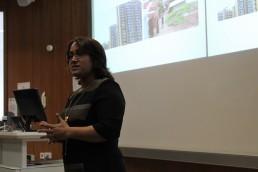 Dr Shilpi Roy delivering a presentation at the University of Glasgow. Image Credit: Gail Wilson, University of Glasgow.