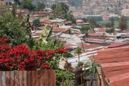 Poor quality housing, informal settlement, Kigali, Rwanda. Credit: Ya Ping Wang, University of Glasgow.