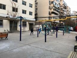 Public activity space in old neighbourhood, Jingzhongli Community, Tianjin. Credit: Nankai University.