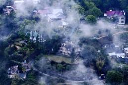 Aerial view of sustainable habitat of Sikkim, India. Credit: Sourav Karmakar.