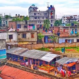 A neighbourhood with the gist of every social class, Vatara, Dhaka. Credit: Tahmina Sultana.
